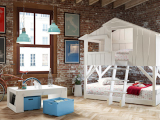 KIDS TREEHOUSE BEDROOM BUNKBED in White Cuckooland Nursery/kid's roomBeds & cribs