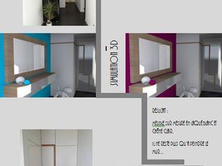 Création de mobilier SoDa créations pétillantes Couloir, entrée, escaliersPortants & ceintres