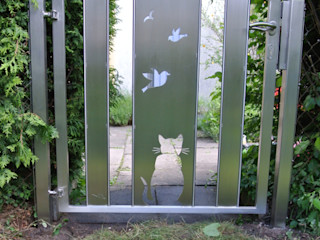 Custom Gates Edelstahl Atelier Crouse: 庭院
