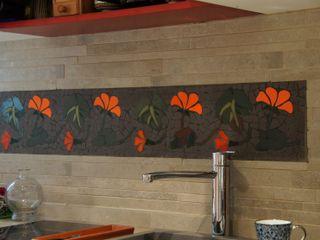Frise en carrelage mosaïque Mosa de Luna Cuisine originale