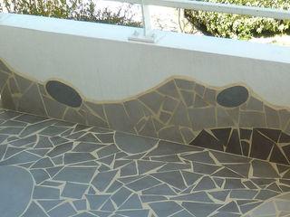Rénovation d'un petit balcon Mosa de Luna Balcon, Veranda & Terrasse originaux