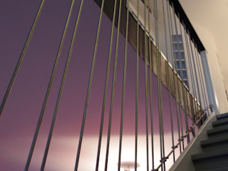 TOURS - Restructuration complète d'une maison verticale Christèle BRIER Architechniques Couloir, entrée, escaliers modernes