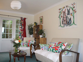 Living Room, Leeds Crow's Nest Interiors Living room