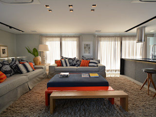 Residência MX Maria Christina Rinaldi Arquitetos 现代客厅設計點子、靈感 & 圖片