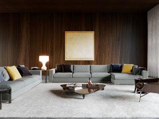Minotti space Architectural Visualization Salones de estilo moderno