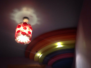 Rainbow ceiling Lancashire design ceilings Kinderkamer