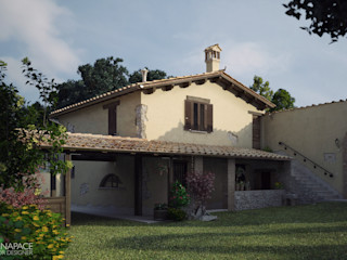 Vittorio Bonapace 3D Artist and Interior Designer Casas rústicas