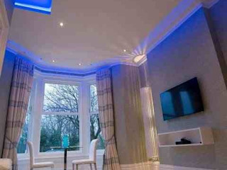 Breck apartments Lancashire design ceilings Woonkamer