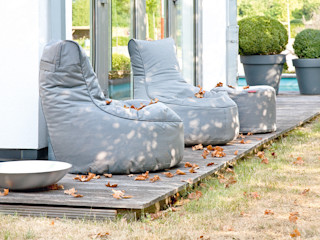 OUTBAG - Outdoor Beanbags - (Sitzsäcke) Global Bedding GmbH & Co.KG Balkon, Veranda & TerrasseMöbel Kunststoff Grau