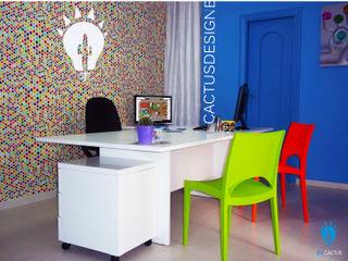 blucactus design Studio Eclectic style study/office
