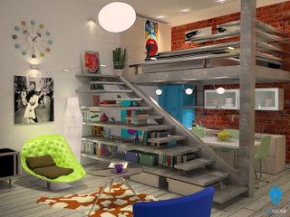 blucactus design Studio Eclectic style houses