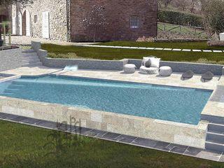 progetto di piscina privata OROBLUPISCINE Piscina