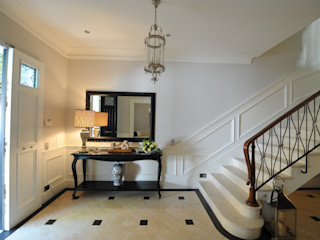 archbcstudio Classic style corridor, hallway and stairs