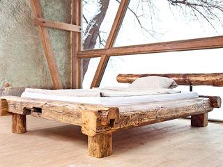 Balken Bett edictum - UNIKAT MOBILIAR Rustikale Schlafzimmer