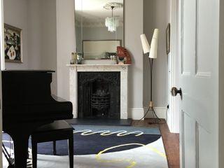 Deirdre Dyson's GEO-SPRING rug in a Surrey Music Room Deirdre Dyson Carpets Ltd Walls & flooringWall & floor coverings