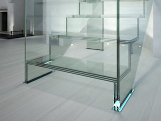 Innovations with glass - the staircase model LONDRA Siller Treppen/Stairs/Scale 樓梯 玻璃 Transparent