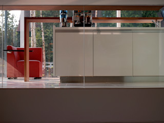 Haus der Architektur Herzog-Architektur Minimalistischer Flur, Diele & Treppenhaus