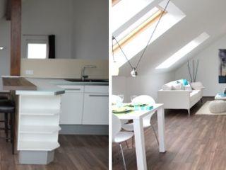 Home Staging leere Immobilie Maisonette-Wohnung raumwerte Home Staging Moderne Esszimmer