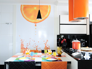 Adriana Scartaris: Design e Interiores em São Paulo وحدات مطبخ Multicolored