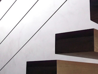 NUÑO ARQUITECTURA Modern Corridor, Hallway and Staircase Wood Wood effect