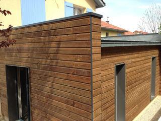 Extension d'une maison IND Architecture Maison individuelle Bois Marron