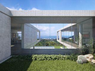 Proyecto 3D de una villa Realistic-design Casas de estilo moderno