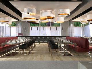 Proyecto 3D de un comedor de hotel Realistic-design Comedores de estilo clásico