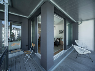 edit home staging Eclectic style balcony, veranda & terrace