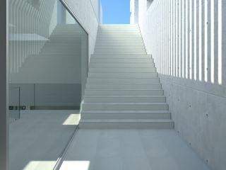 Perspectivas 3D de una Villa en Mallorca Realistic-design Casas de estilo moderno