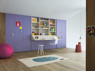 NIDI MOOVING : idee salvaspazio ROOM#1 Nidi Stanza dei bambiniArmadi & Cassettiere