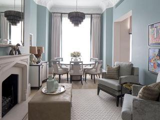 Living Room and Dining Area Roselind Wilson Design Ruang Keluarga Klasik