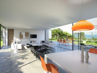 Perspectivas 3D - salones Realistic-design Comedores de estilo moderno