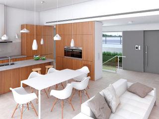 NUÑO ARQUITECTURA Modern Kitchen Wood Wood effect