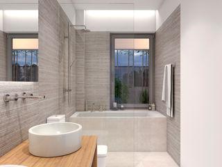 NUÑO ARQUITECTURA Modern Bathroom Ceramic Grey