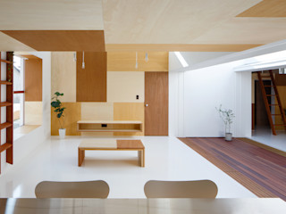 イドコロ ma-style architects ミニマルデザインの リビング