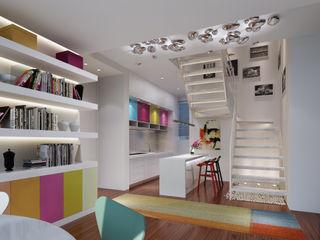 atelier blur / georges hung architecte d.p.l.g. Salas de jantar modernas