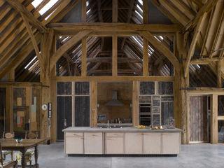 Feering Bury Farm Barn Hudson Architects Eclectic style kitchen