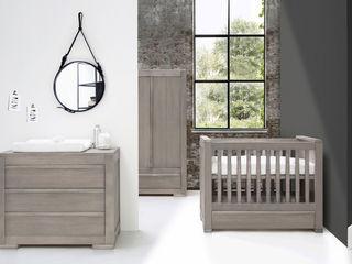 Nature Grey Nursery Furniture set Adorable Tots Дитяча кімнатаЛіжка та дитячі ліжечка