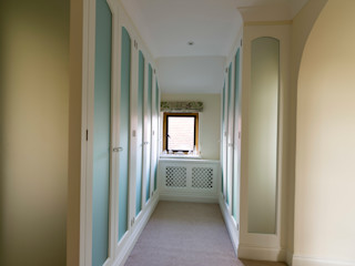 Wardrobes painted some with Matelux glass Tim Wood Limited Dressing roomWardrobes & drawers