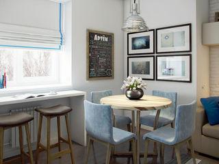 Massimos / cтудия дизайна интерьера Phòng ăn phong cách Bắc Âu