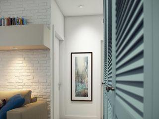 Massimos / cтудия дизайна интерьера Hành lang, sảnh & cầu thang phong cách Bắc Âu