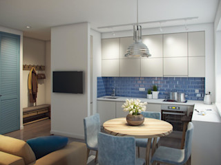 Massimos / cтудия дизайна интерьера Nhà bếp phong cách Bắc Âu