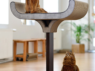 Design Kratzmöbel cat-on WohnzimmerBeleuchtung Holz