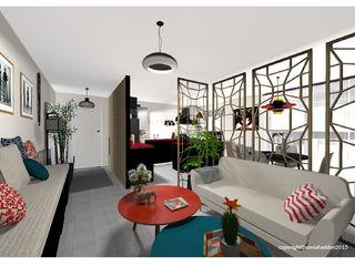 Sonia HADDON Interior Designer Гостиная в стиле модерн