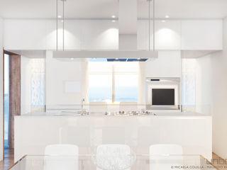 Unboxed - Prefab Mediterranean Wooden House Barberio Colella Architetti 現代廚房設計點子、靈感&圖片