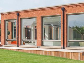 Pool Room with Thermabronze Windows and Double Clad Bronze Doors Architectural Bronze Ltd Windows & doors Windows Metal Black