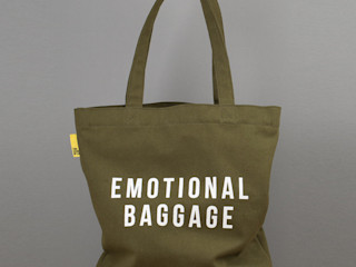 Emotional Baggage canvas tote An Artful Life DressingAccessoires & décorations