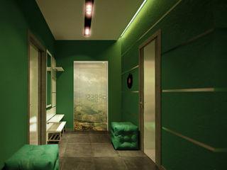 Студия интерьерного дизайна happy.design Modern Corridor, Hallway and Staircase