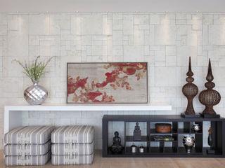 Projeto de decoração de Apartamento Leila Dionizios Arquitetura e Luminotécnica Salas de estar modernas