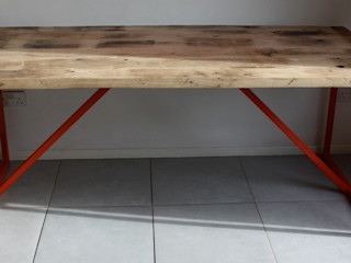 Kanteen Dining Table in Reclaimed Oak Salvation Furniture Dining roomTables